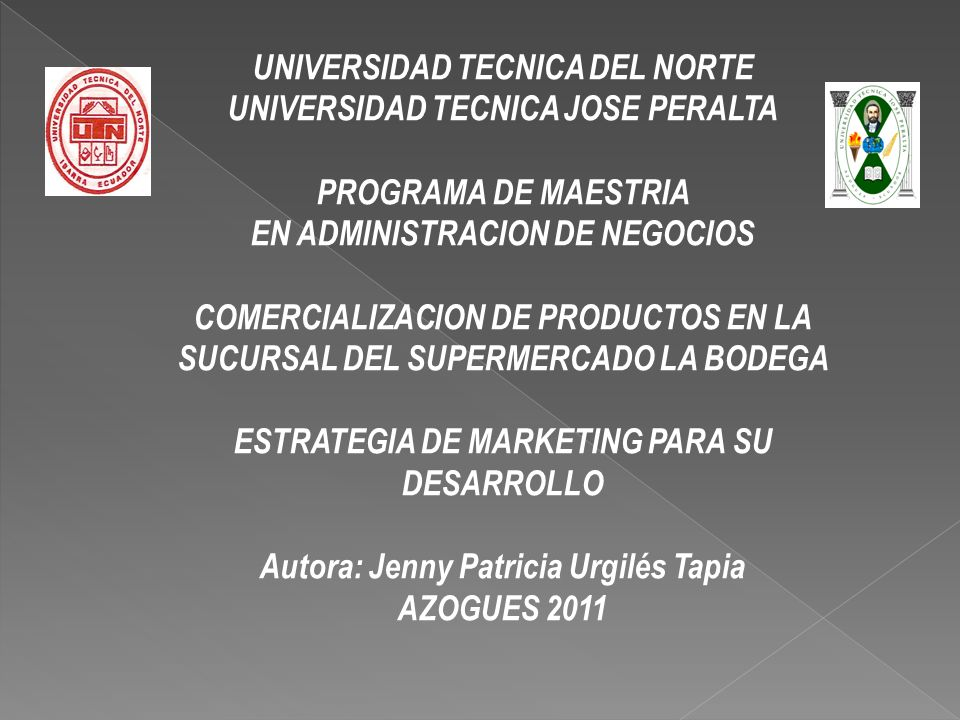 UNIVERSIDAD TECNICA DEL NORTE UNIVERSIDAD TECNICA JOSE PERALTA