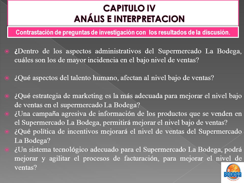 CAPITULO IV ANÁLIS E INTERPRETACION