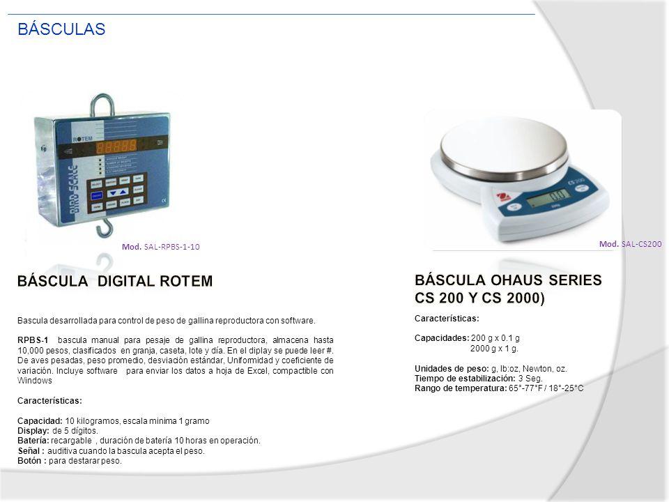 BÁSCULAS BÁSCULA DIGITAL ROTEM BÁSCULA OHAUS SERIES CS 200 Y CS 2000)