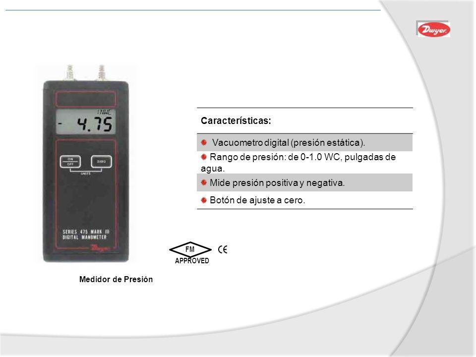 Vacuometro digital (presión estática).