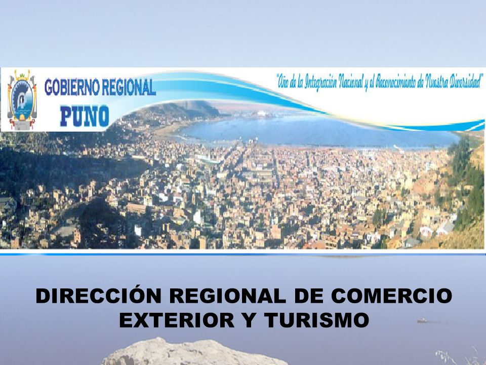 DIRECCIÓN REGIONAL DE COMERCIO EXTERIOR Y TURISMO