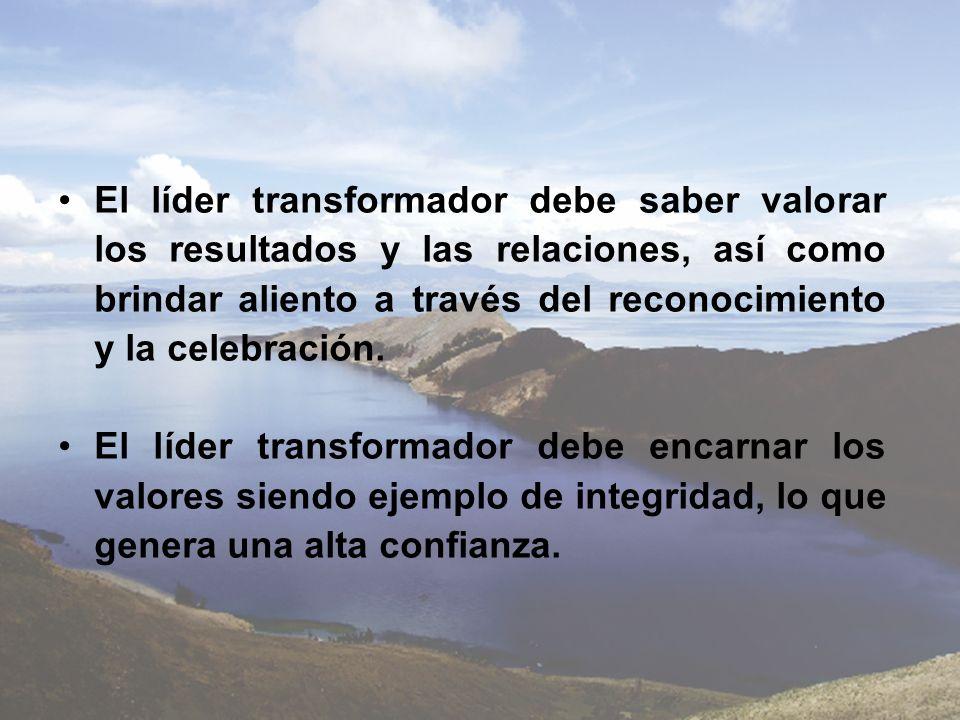 El líder transformador debe saber valorar los resultados y las relaciones, así como brindar aliento a través del reconocimiento y la celebración.