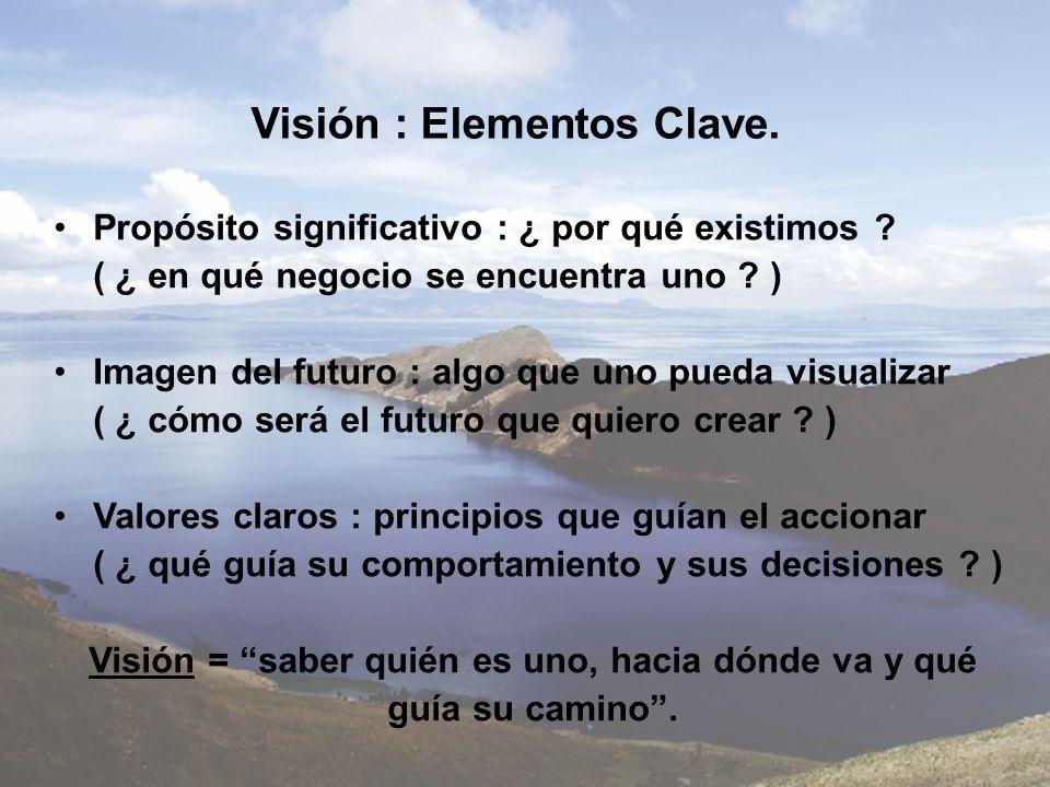 Visión : Elementos Clave.