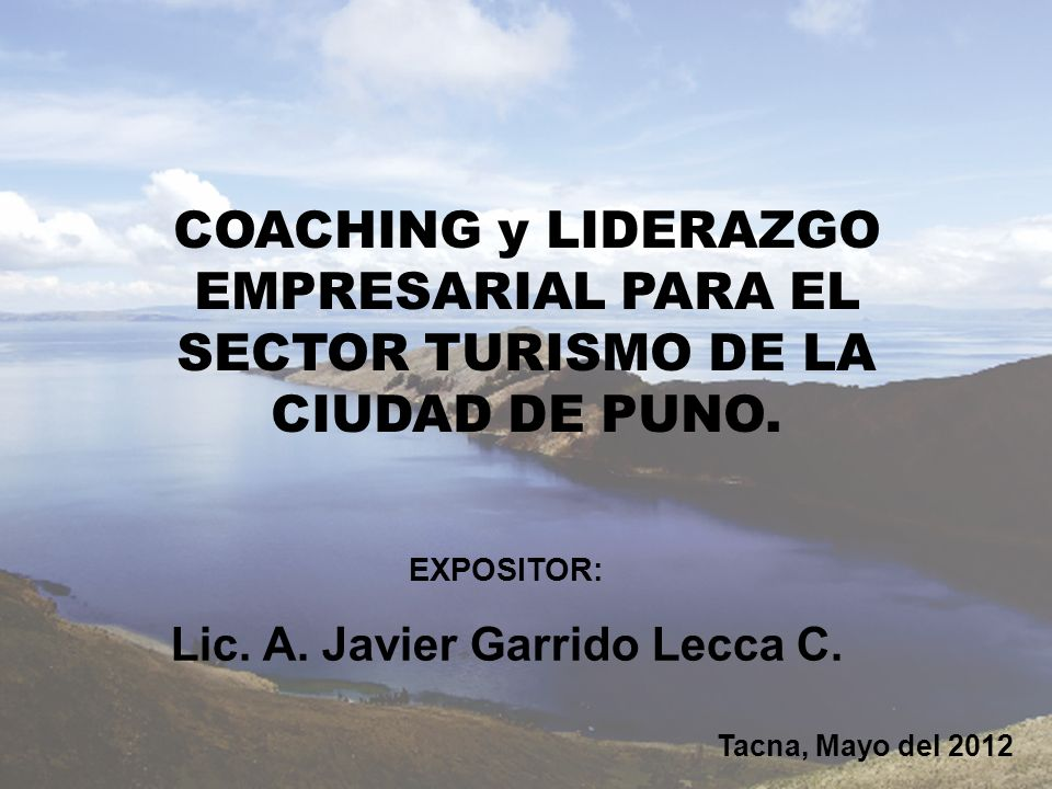 Lic. A. Javier Garrido Lecca C.