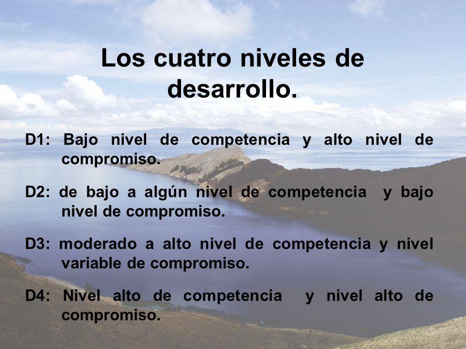 Los cuatro niveles de desarrollo.