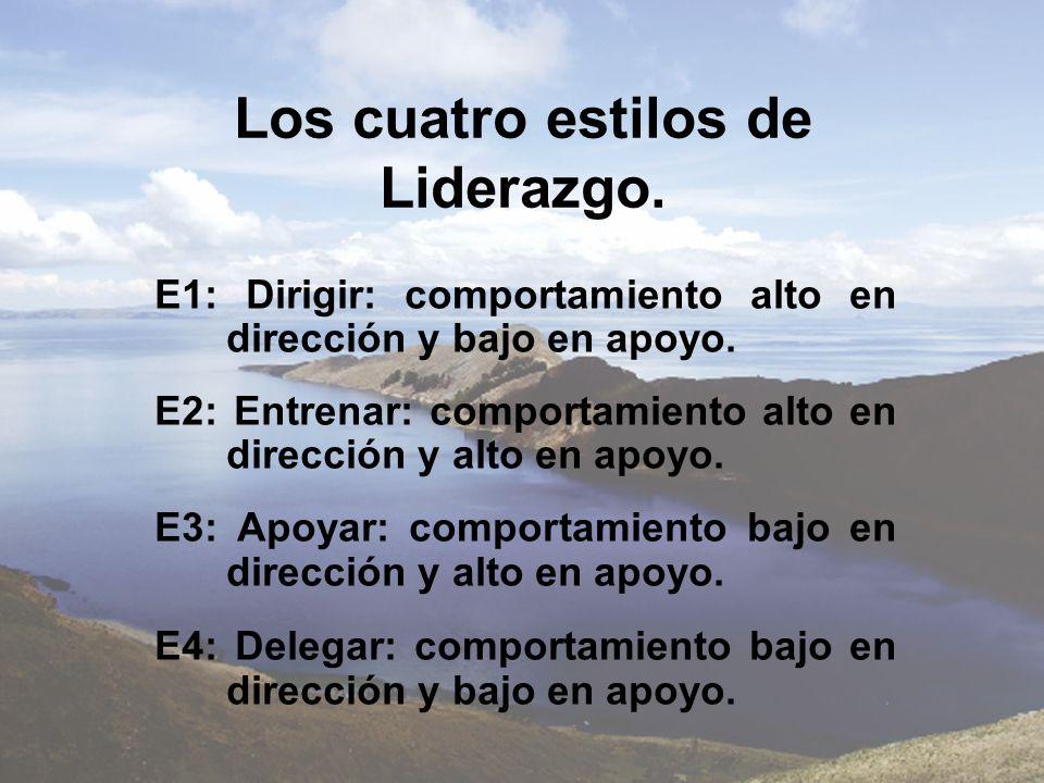 Los cuatro estilos de Liderazgo.