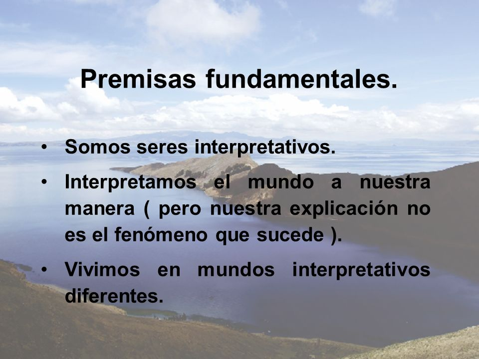 Premisas fundamentales.