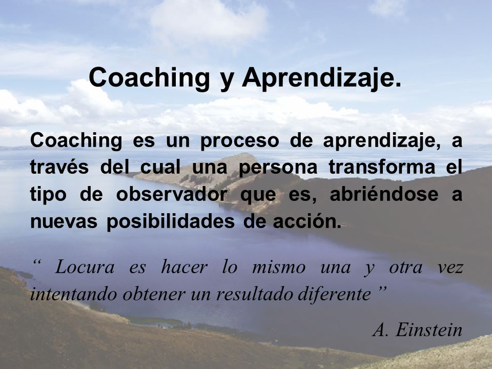 Coaching y Aprendizaje.