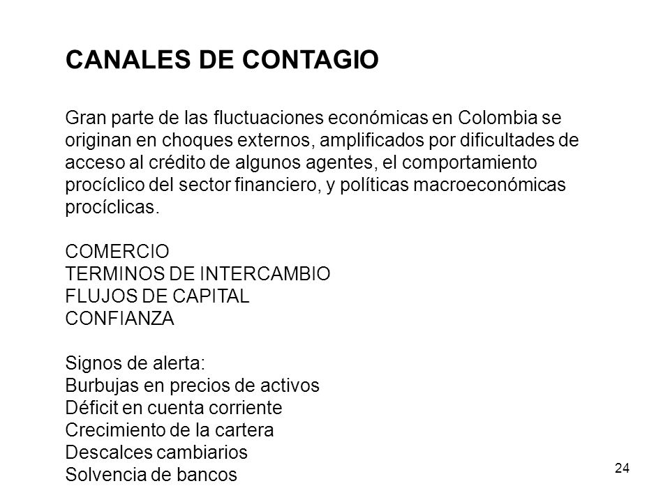 CANALES DE CONTAGIO