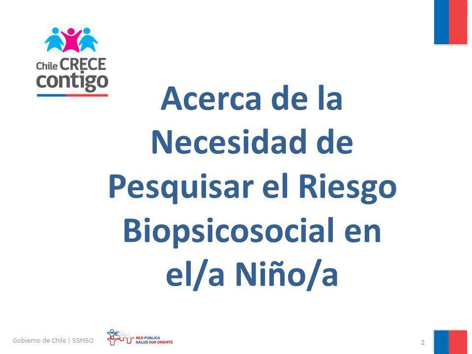Acerca de la Necesidad de Pesquisar el Riesgo Biopsicosocial en el/a Niño/a