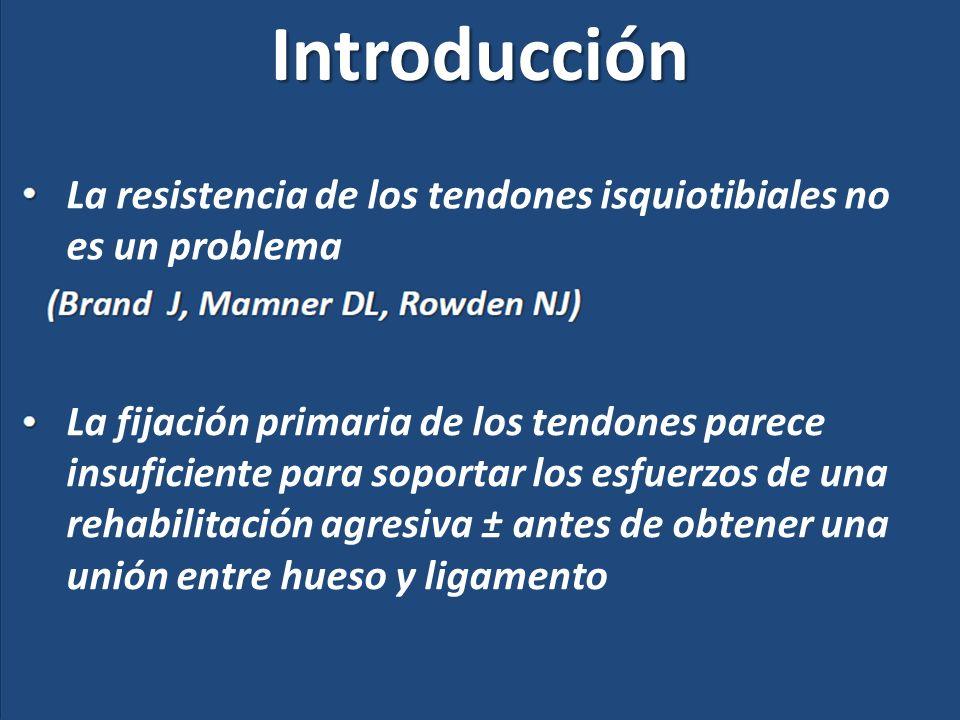 Introducción La resistencia de los tendones isquiotibiales no es un problema.