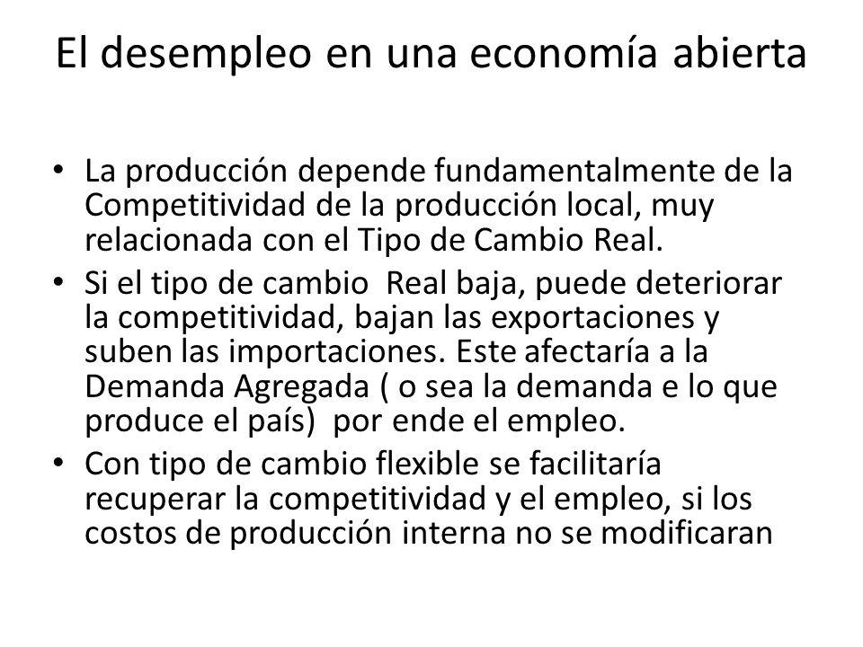 El desempleo en una economía abierta