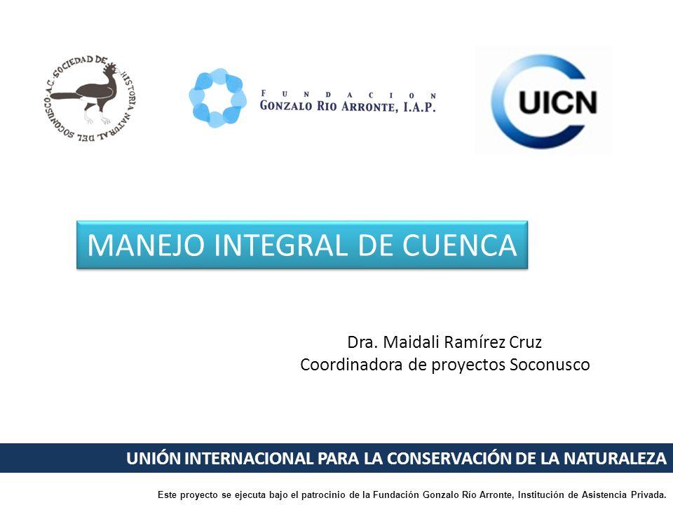 MANEJO INTEGRAL DE CUENCA