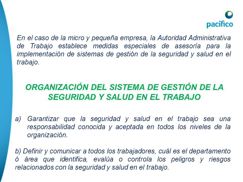 ORGANIZACIÓN DEL SISTEMA DE GESTIÓN DE LA