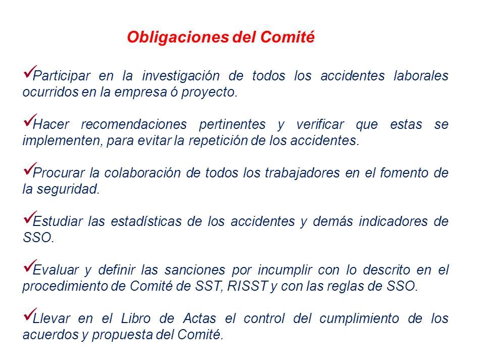 Obligaciones del Comité