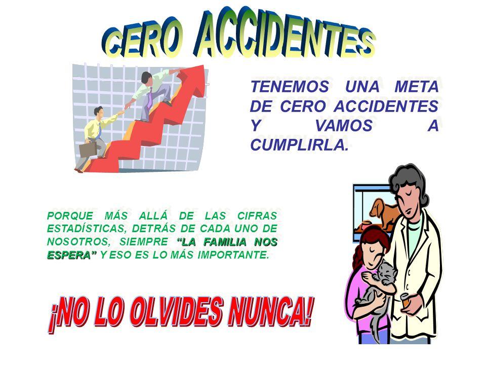 CERO ACCIDENTES ¡NO LO OLVIDES NUNCA!