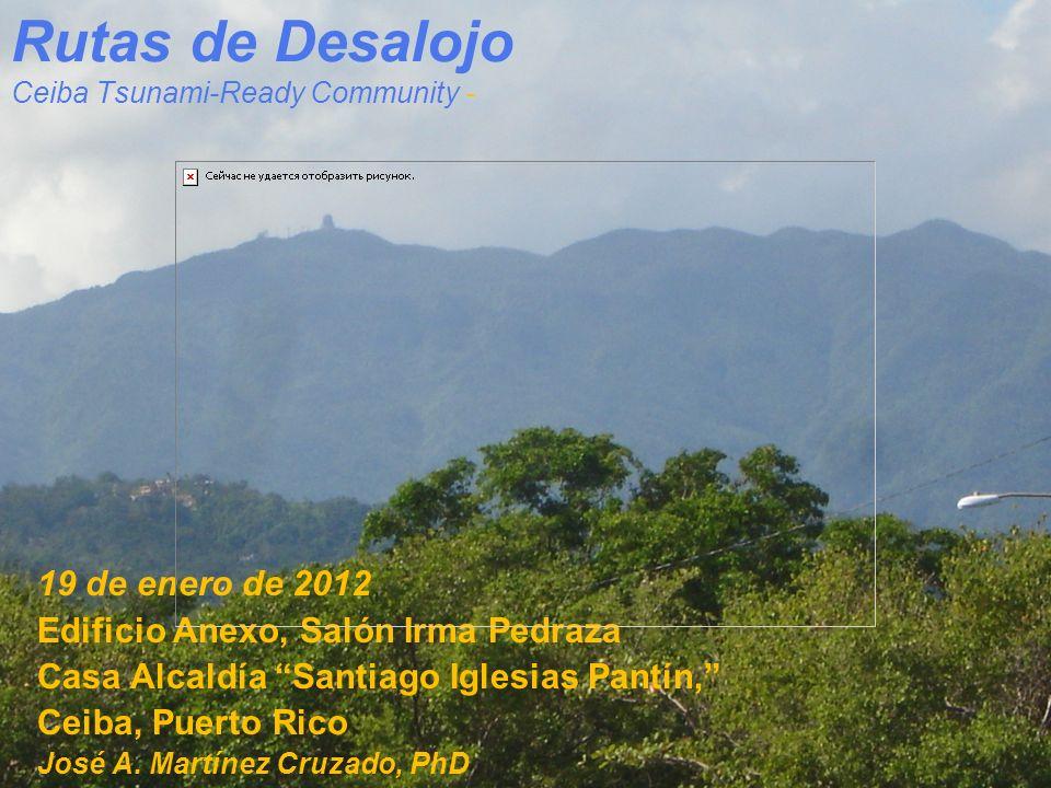 Rutas de Desalojo Ceiba Tsunami-Ready Community -