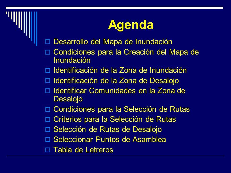 Agenda Desarrollo del Mapa de Inundación