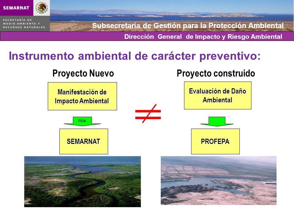 Instrumento ambiental de carácter preventivo: