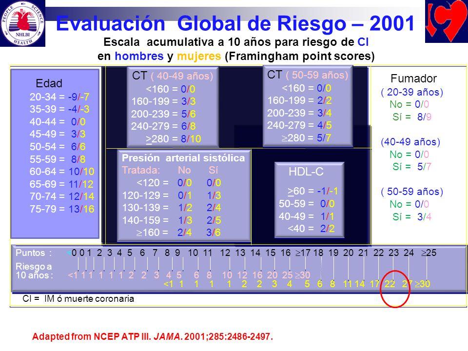 Evaluación Global de Riesgo – 2001