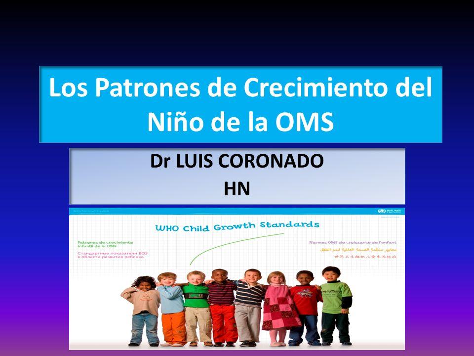 Los Patrones de Crecimiento del Niño de la OMS
