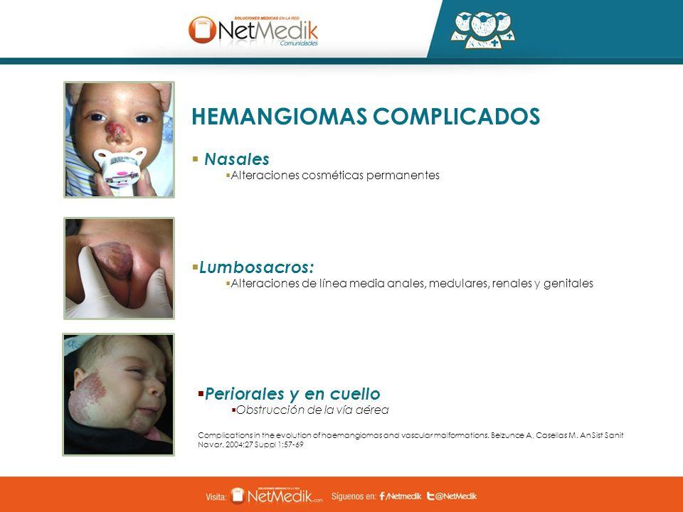 HEMANGIOMAS COMPLICADOS