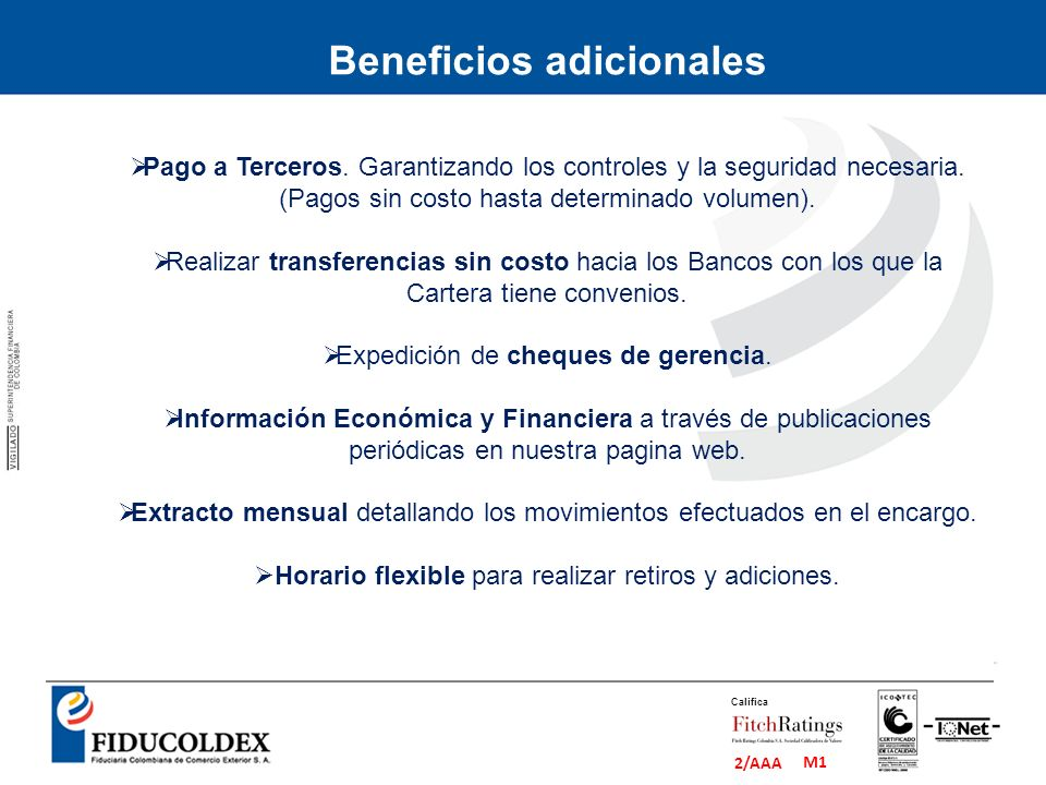 Beneficios adicionales