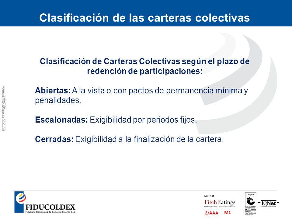 Clasificación de las carteras colectivas