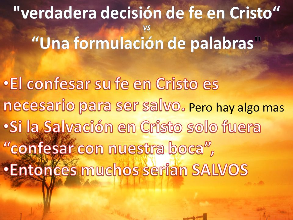 verdadera decisión de fe en Cristo Una formulación de palabras