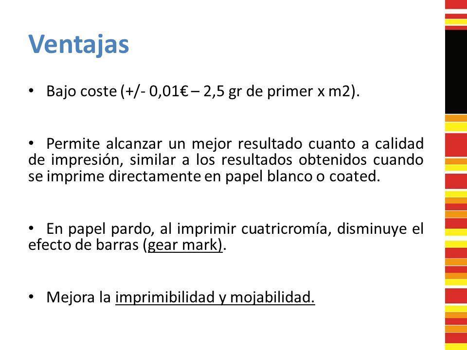 Ventajas Bajo coste (+/- 0,01€ – 2,5 gr de primer x m2).