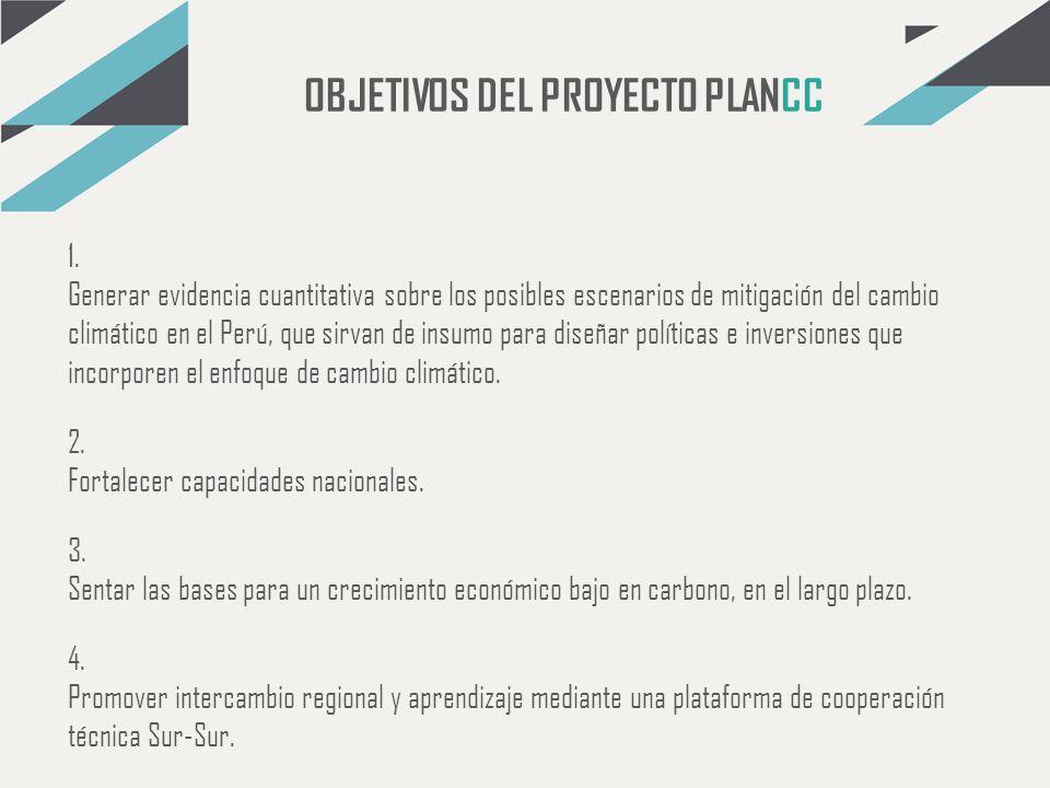 OBJETIVOS DEL PROYECTO PLANCC