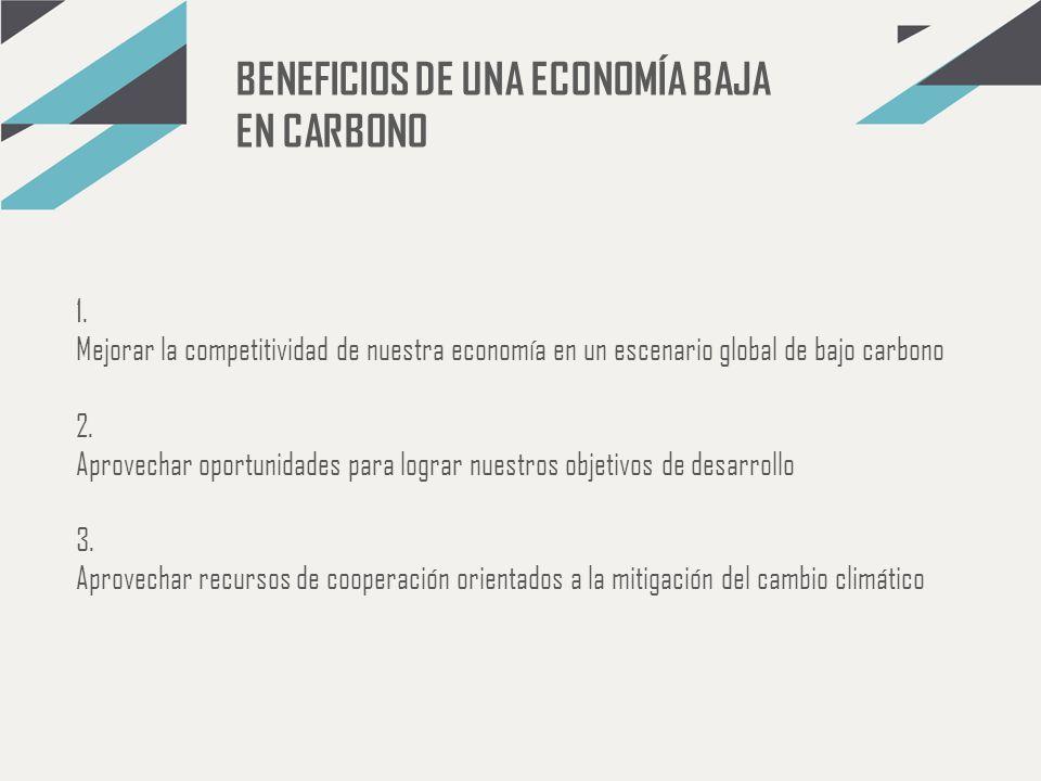 BENEFICIOS DE UNA ECONOMÍA BAJA EN CARBONO