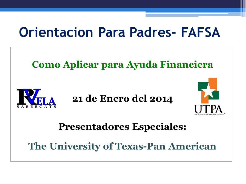 Orientacion Para Padres- FAFSA