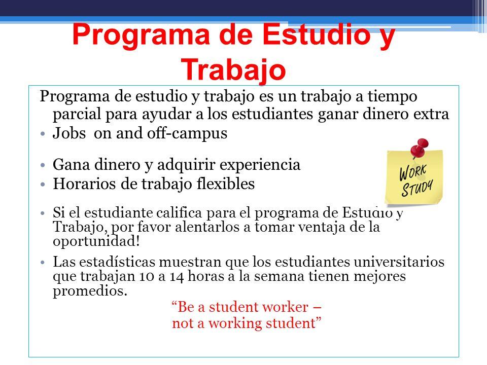 Programa de Estudio y Trabajo