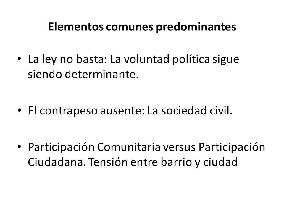 Elementos comunes predominantes