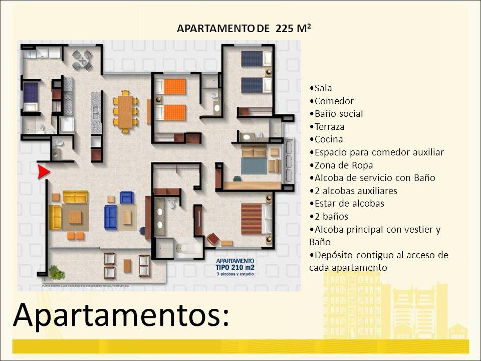 Apartamentos: APARTAMENTO DE 225 M2 Sala Comedor Baño social Terraza