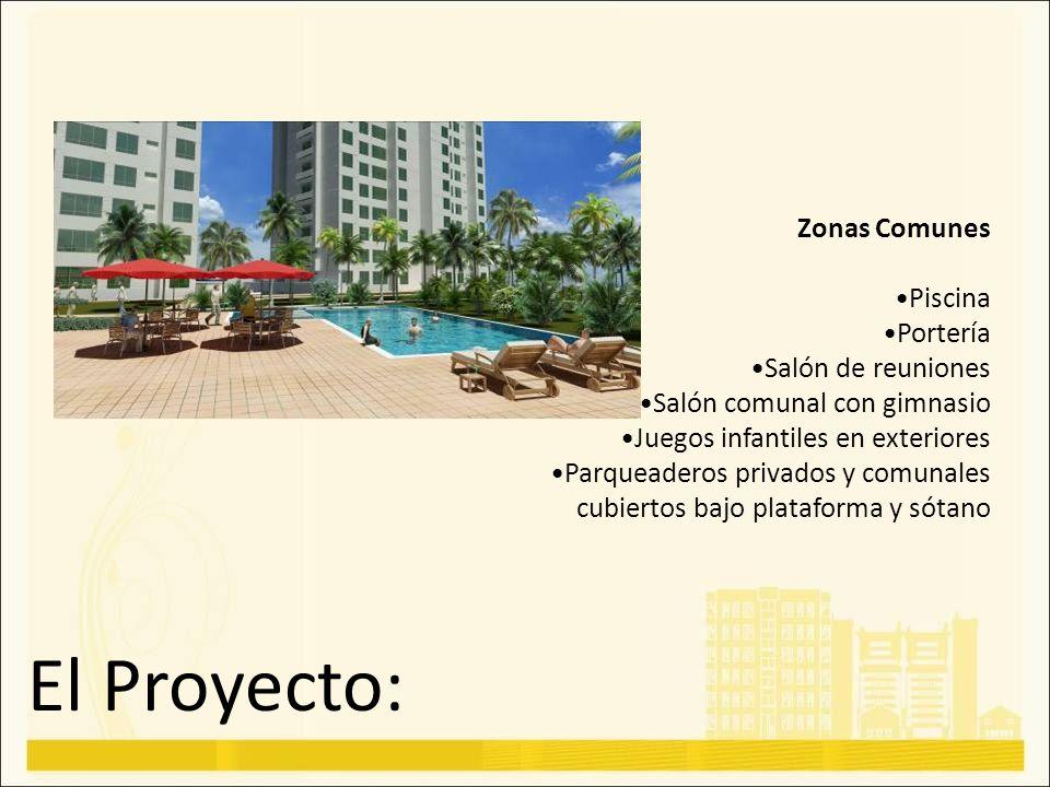El Proyecto: Zonas Comunes Piscina Portería Salón de reuniones