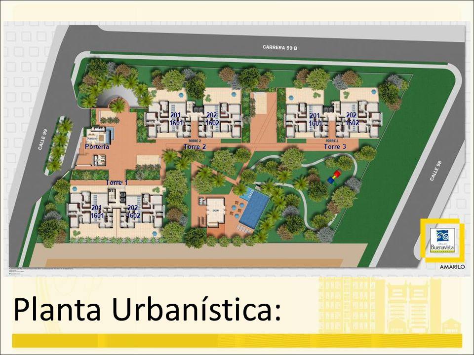 Planta Urbanística: 201 1601 202 1602 201 1601 202 1602 Portería