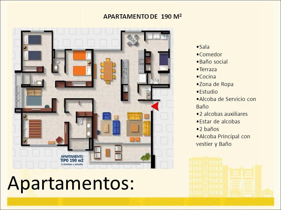 Apartamentos: APARTAMENTO DE 190 M2 Sala Comedor Baño social Terraza