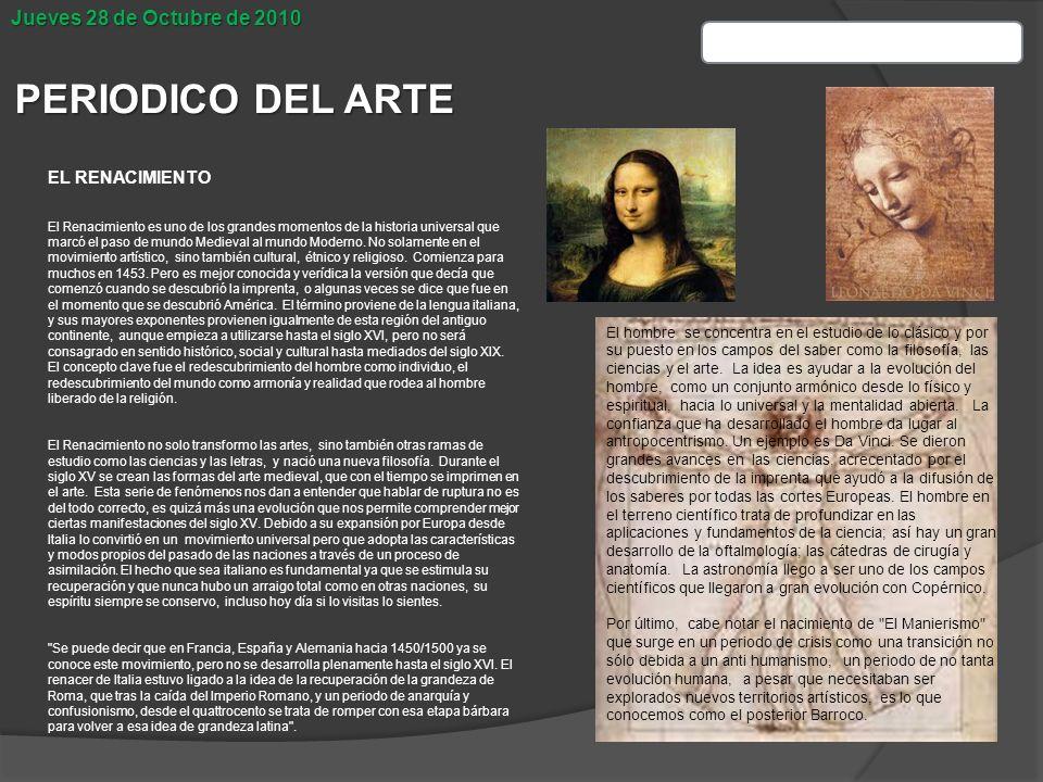 Periodico del arte escultura del renacimiento ppt descargar for Concepto de periodico mural