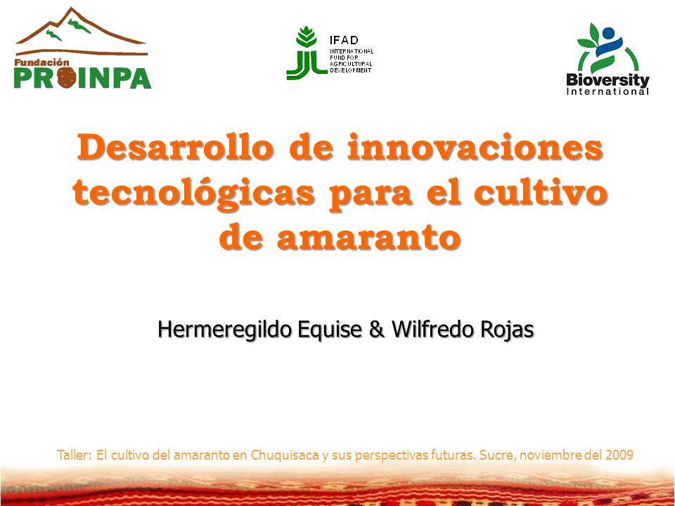 Desarrollo de innovaciones tecnológicas para el cultivo de amaranto