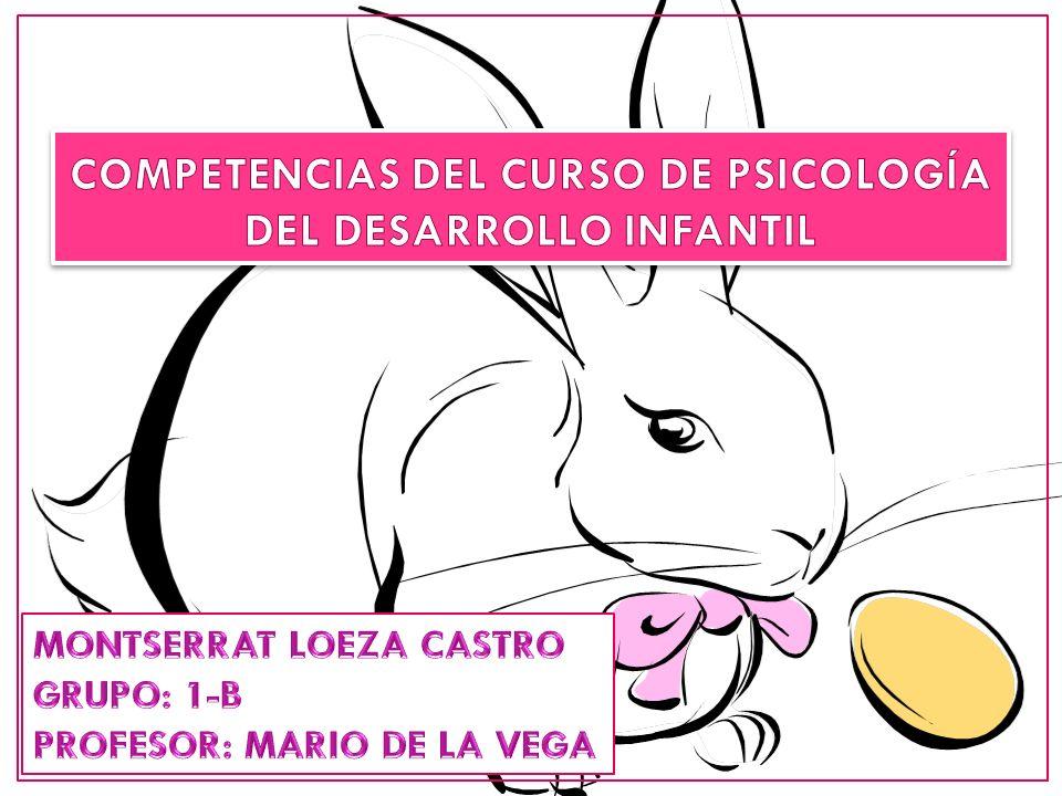 COMPETENCIAS DEL CURSO DE PSICOLOGÍA DEL DESARROLLO INFANTIL