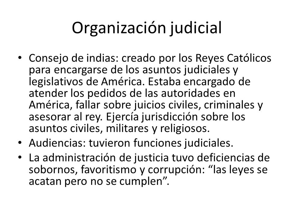 Organización judicial