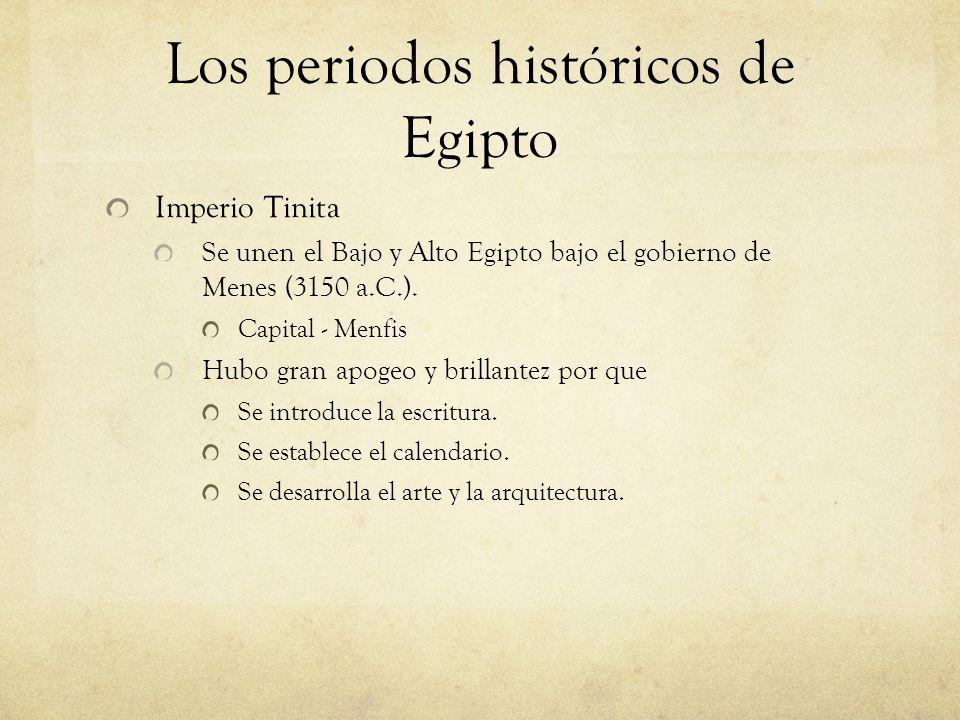Los periodos históricos de Egipto
