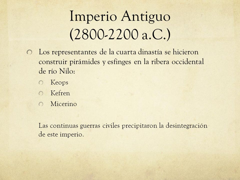 Imperio Antiguo (2800-2200 a.C.)