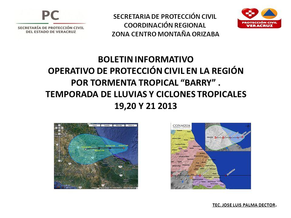 OPERATIVO DE PROTECCIÓN CIVIL EN LA REGIÓN