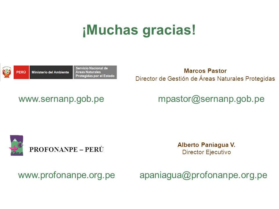 ¡Muchas gracias! www.sernanp.gob.pe mpastor@sernanp.gob.pe