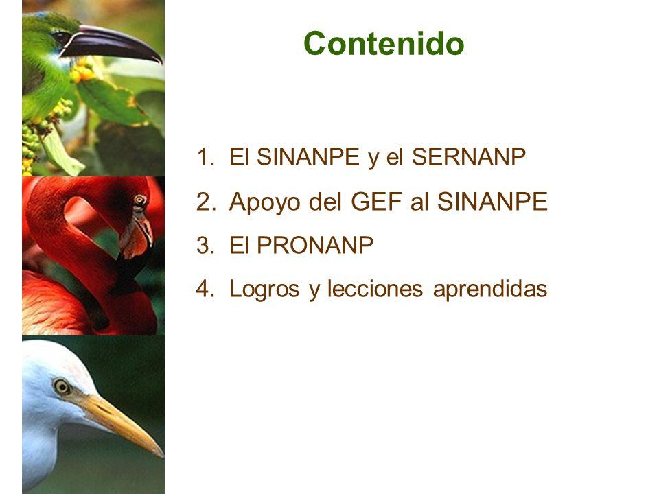 Contenido Apoyo del GEF al SINANPE El SINANPE y el SERNANP El PRONANP