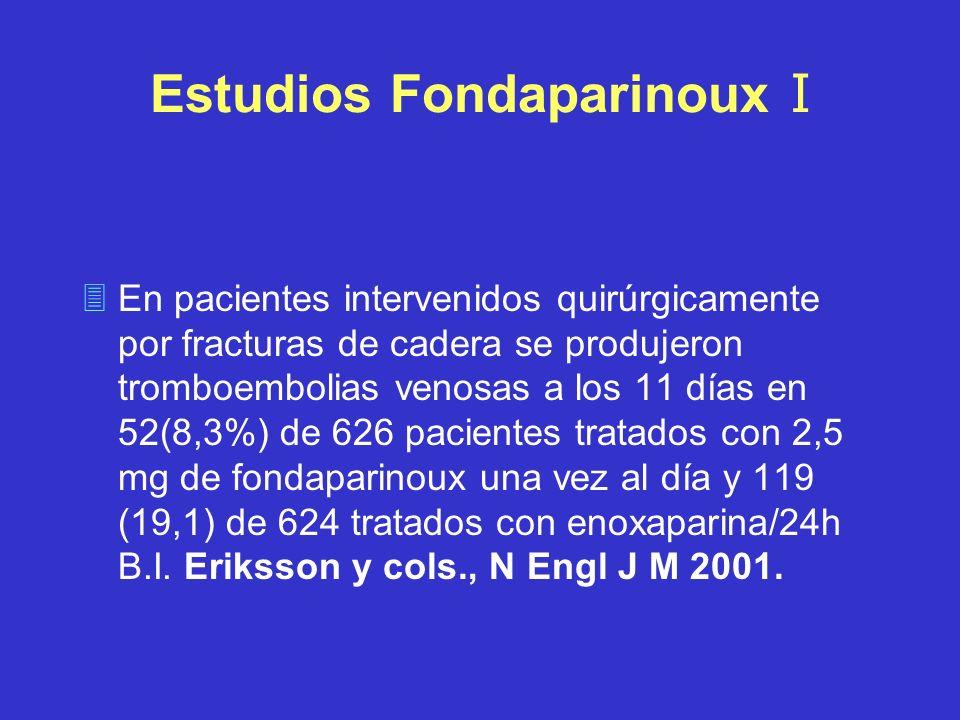 Estudios Fondaparinoux I