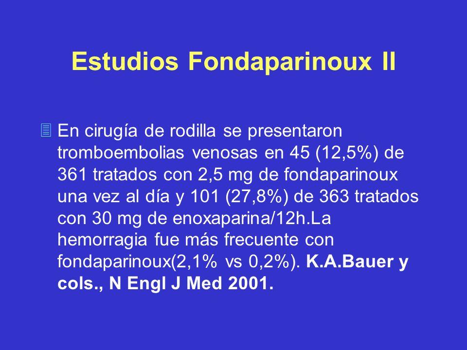 Estudios Fondaparinoux II